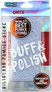 Onyx Professional Double Sided Pumice Stone 100% Siliglass Callus Remover, Exfoliates Feet & Smooths Skin