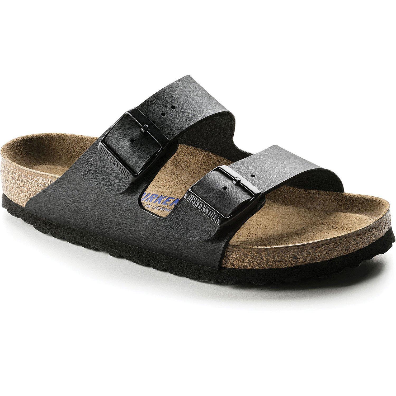 Birkenstock Unisex Arizona Black Birko-flor Sandals - 7-7.5 B(M) US Women
