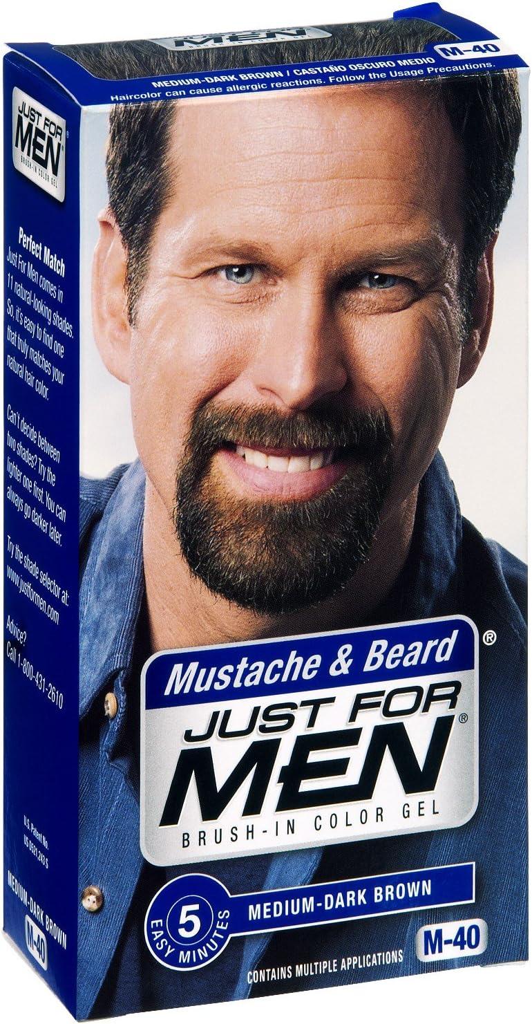 Just For Men bigote y barba MEDIUM-DARK marrón M-40 color ...