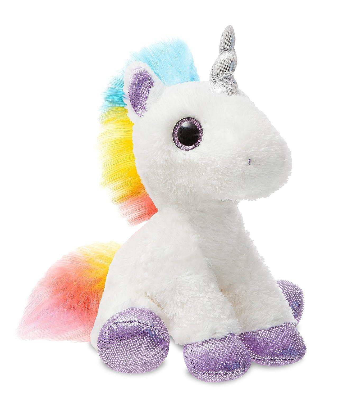 Multi-Coloured Aurora World Sparkle Tales 60857 Dazzle The Unicorn 12in Soft Toy for Children 12-Inch