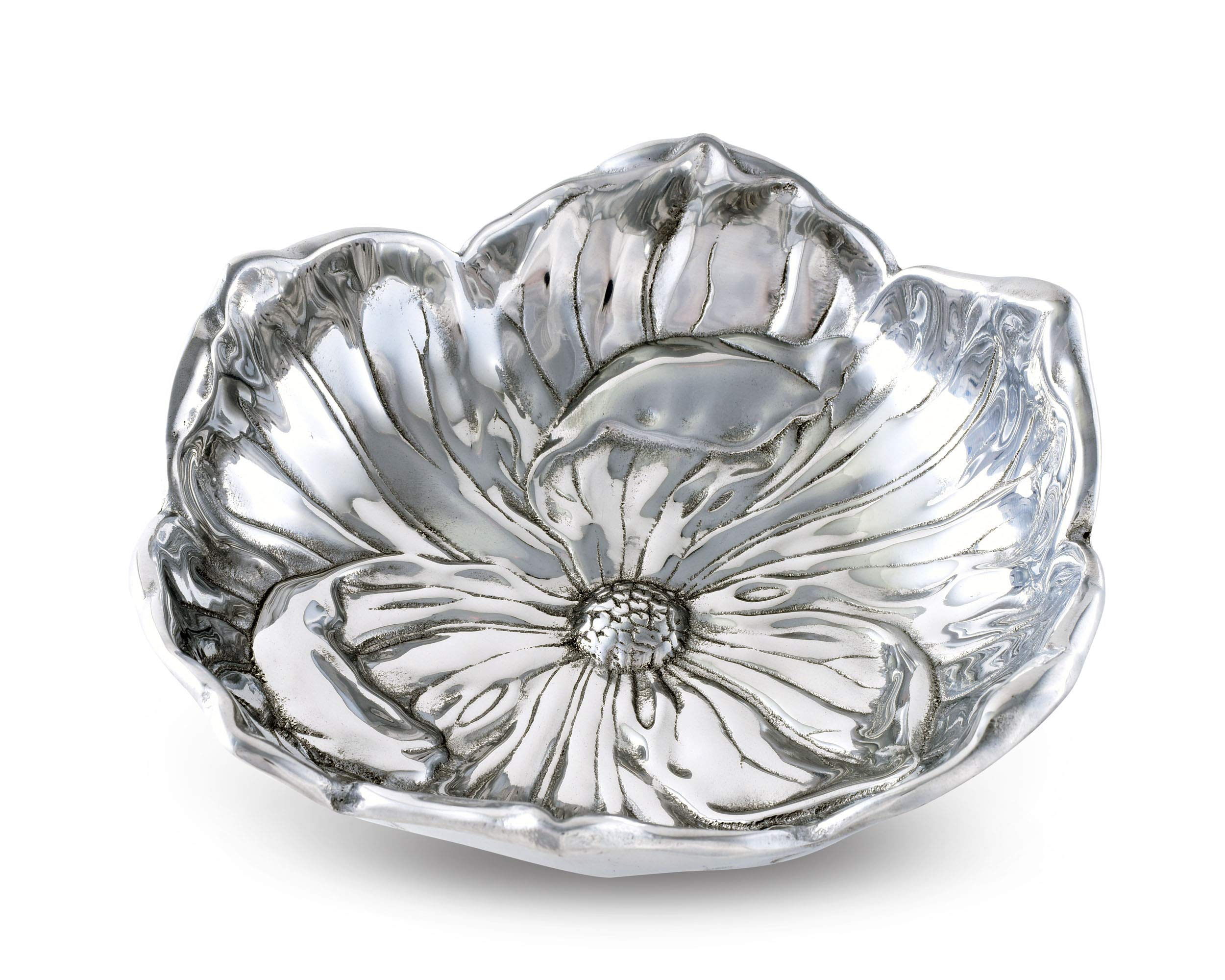 "Arthur Court Designs Aluminum Magnolia Bloom Bowl 10"" Long"