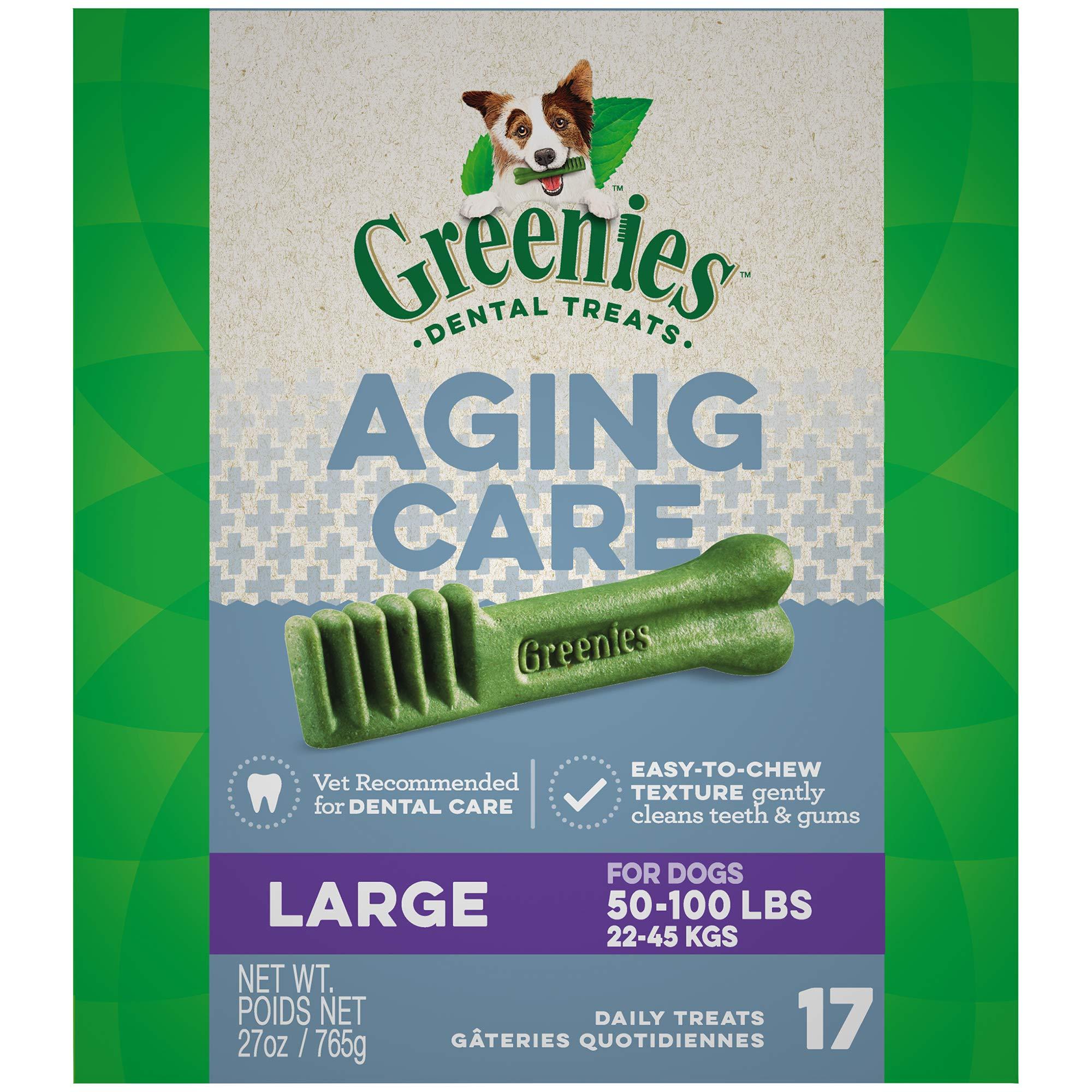 GREENIES Aging Care Large Size Dental Dog Treats, 27 oz. Pack