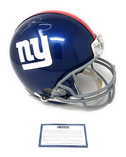 cb07da0e5 Amazon.com: Odell Beckham Jr New York Giants Signed Autograph Full Size  Proline Authentic Helmet Steiner Sports Certified: Sports Collectibles