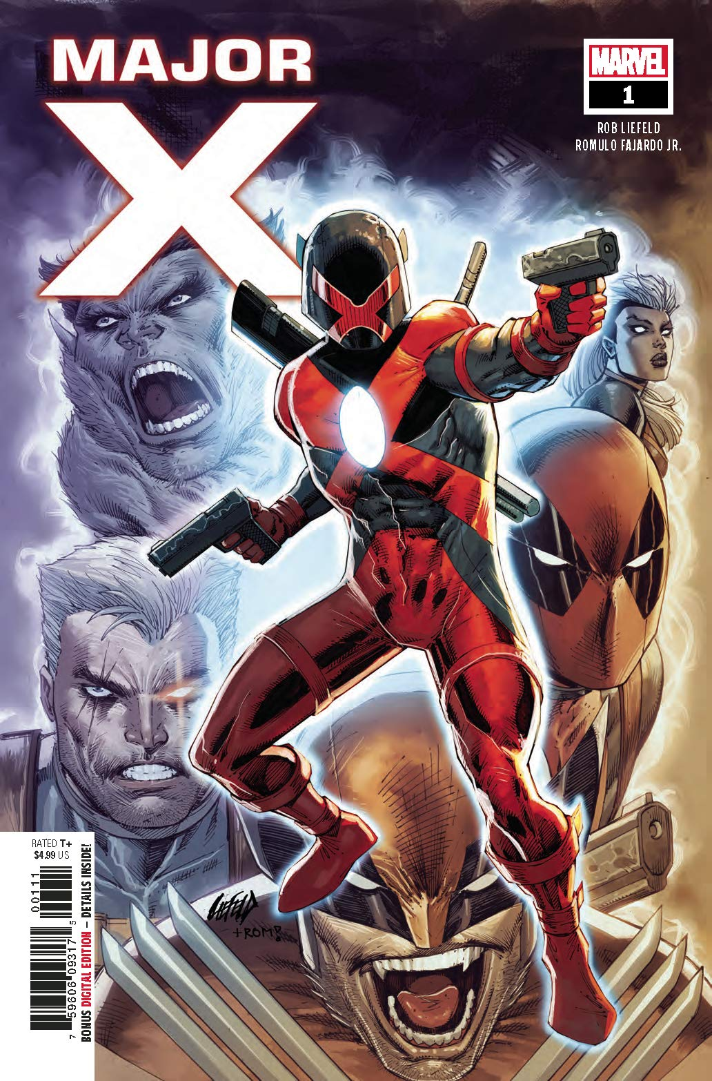 MAJOR X #3 1ST PRINTING ROB LIEFELD MAIN COVER MARVEL COMICS OF 6 2019
