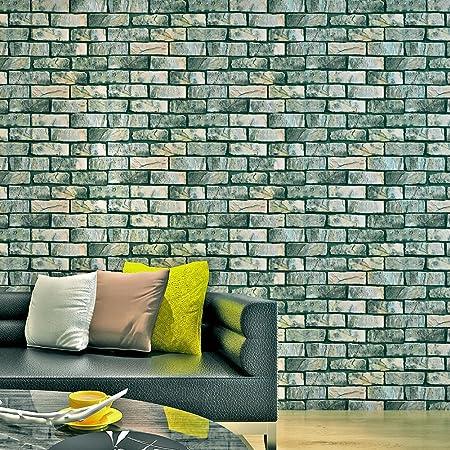 Hanmero Reg Green Brick Pattern Contact Paper Self Adhesive Peel