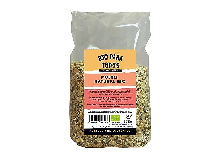 Bio para todos Muesli Natural Bio - 12 Paquetes de 375 gr - Total: 4500