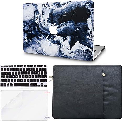 Sleeve Rainbow Mist 2 KECC MacBook Air 13 Inch Case w//UK Keyboard Cover Plastic Hard Shell Screen Protector A1466//A1369