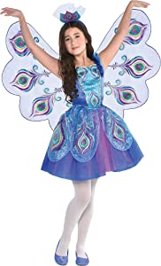 Peacock Dress Halloween Costume for Girls, Large, with Included Accessories, by Amscan