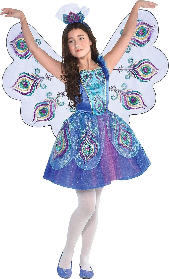 amscan - Disfraz de pavo real para niñas, grande, con accesorios ...