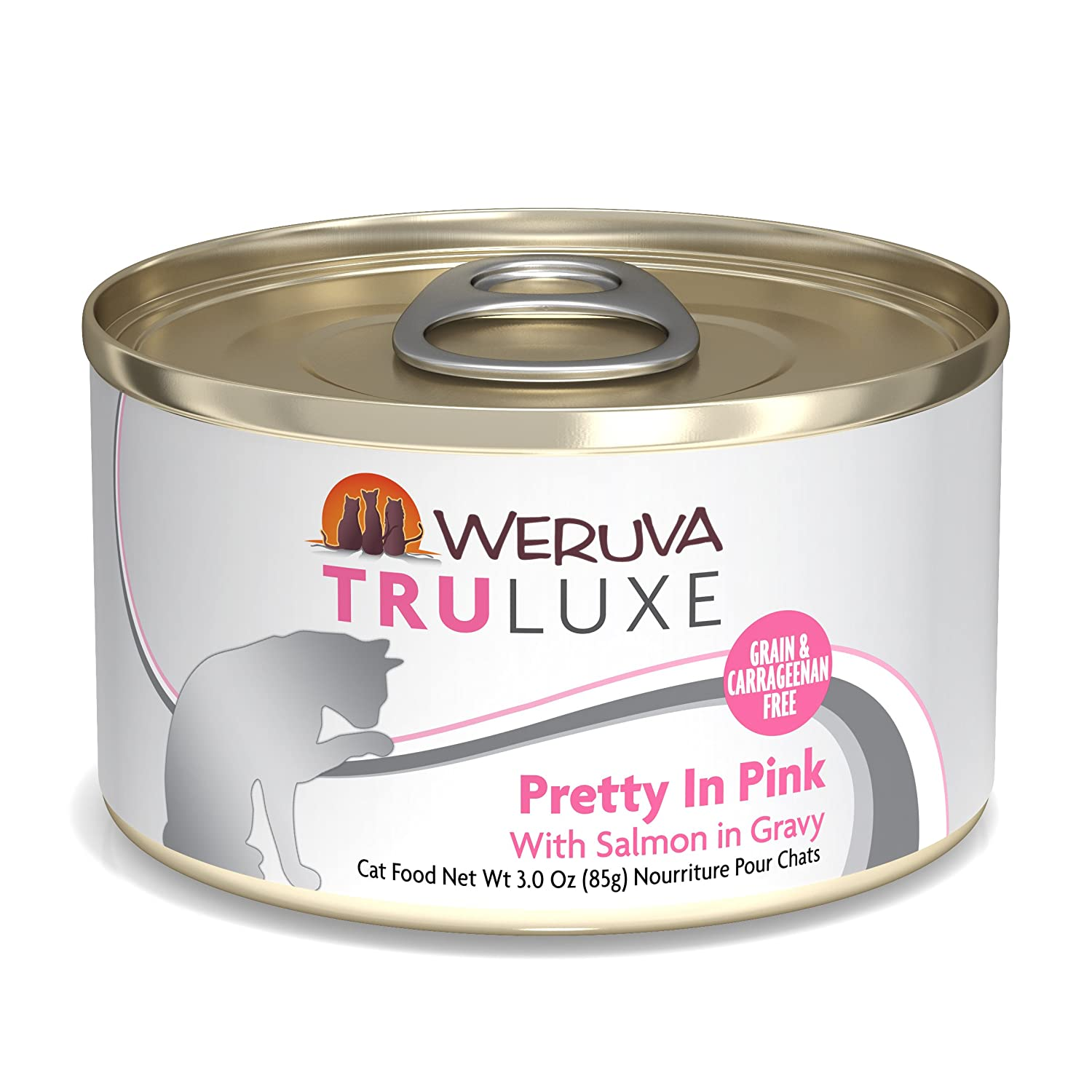 3Ounce Can (Pack of 24) Weruva TruLuxe Cat Food, Glam 'N Punk with Lamb & Duck in Gelée, 6oz Can (Pack of 24)