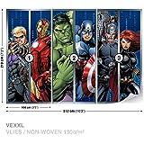 Walltastic 8 x 10 ft avengers assemble wallpaper mural for Avengers wall mural amazon