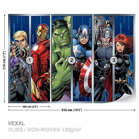 Marvel Avengers Photomural Wallpaper Mural Dekoshop Disney Avengers ...