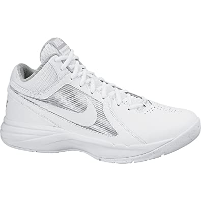 NIKE New Men s The Overplay VIII Basketball Shoes White Silver 6.5 4fd447278