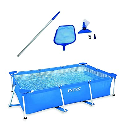 """Intex 8.5' x 5.3' x 26"""" Above Ground Swimming Pool & Cleaning Maintenance Kit : Garden & Outdoor"""
