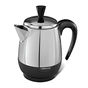 Farberware 2-4-Cup Percolator, Stainless Steel,FCP240