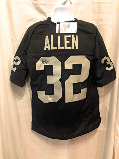 separation shoes 9bf06 e11b5 Marcus Allen Oakland Raiders Signed Autograph Black Custom Jersey JSA  Witnessed Certified