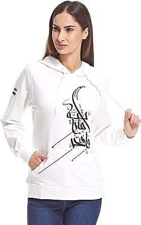 Kashe5 Designs KASND03HOD.EMARATIYA01 Hoodie for Women - White