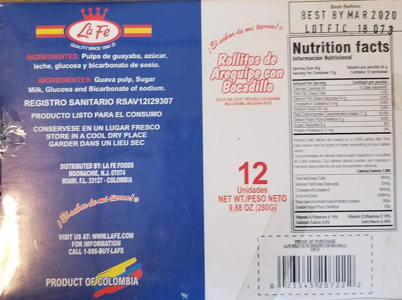 ROLLITOS DE AREQUIPE CON BOCADILLO 12 UDS - 9.88 OZ