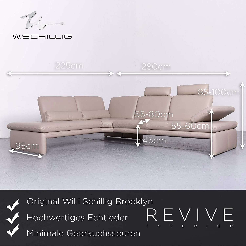 Willi Schillig Brookylin Designer Leder Sofa Beige Echtleder Ecksofa Couch 6537 SANAA Amazonfr Cuisine Maison