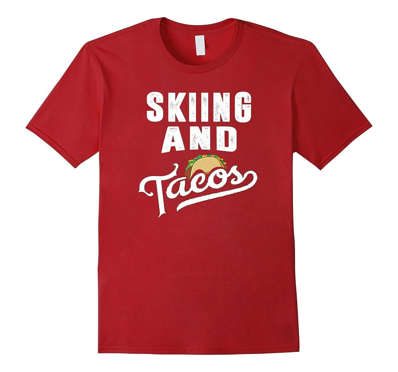Skiing and Tacos Funny Sports Ski Taco Love T-Shirt-Vaci