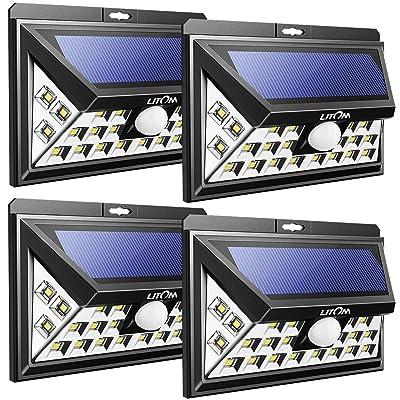 Nouvelle Version 24 LED Lampe Solaire Jardin 4 Pack] Litom Lampe ...