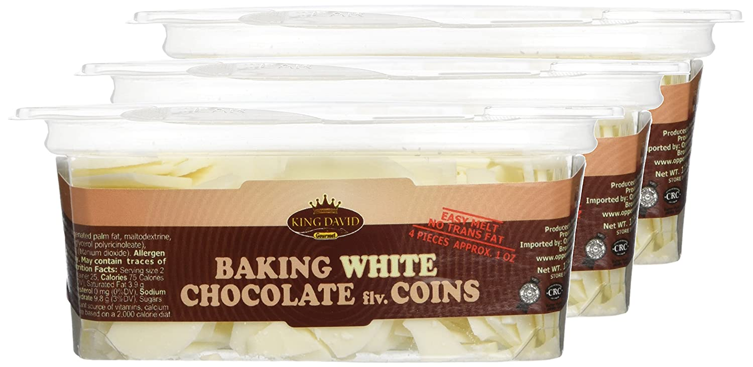 Amazon.com : King David Kosher Easy Melt White Baking Chocolate ...