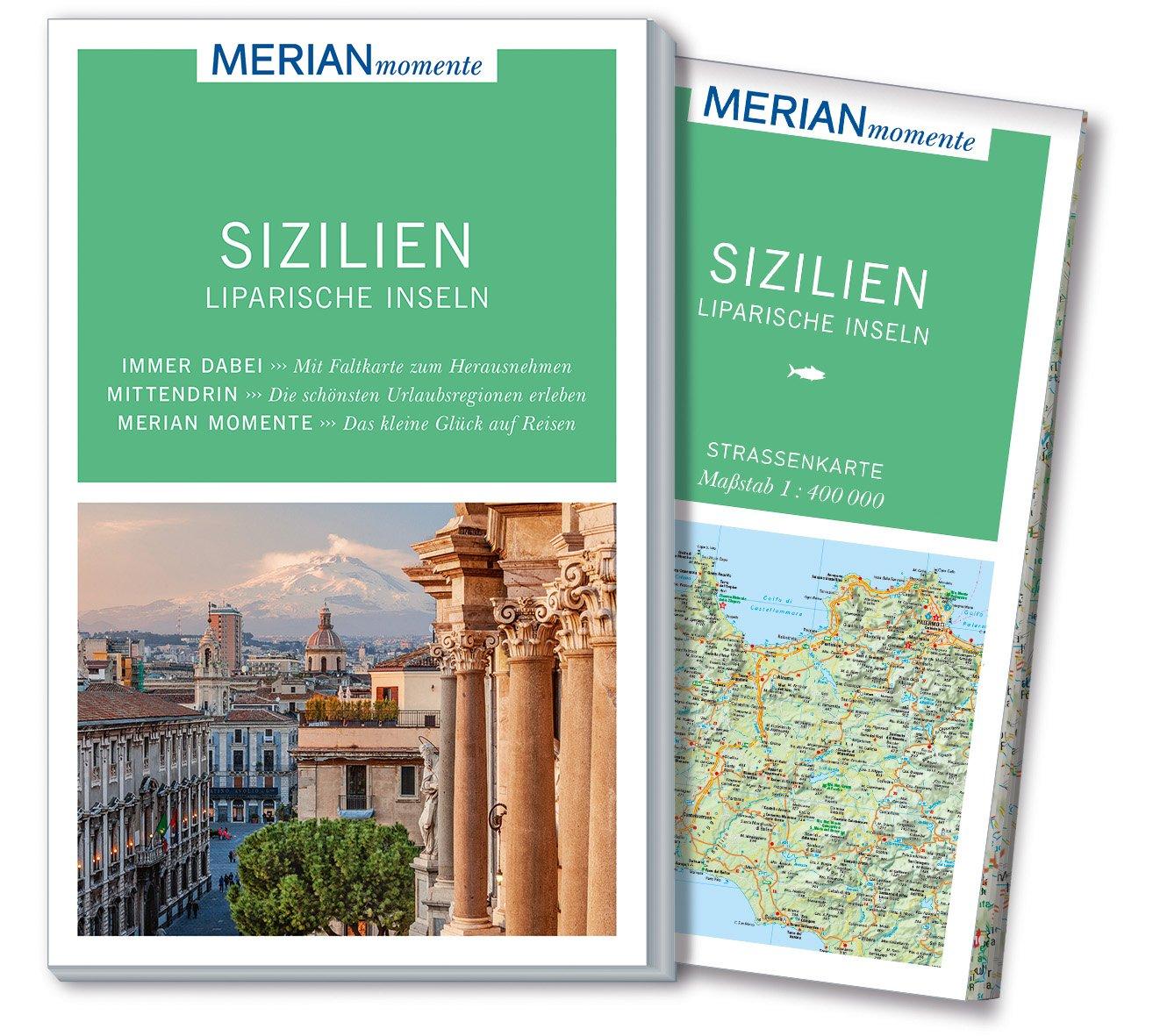 MERIAN momente Reiseführer Sizilien Liparische Inseln: MERIAN momente - Mit Extra-Karte zum Herausnehmen