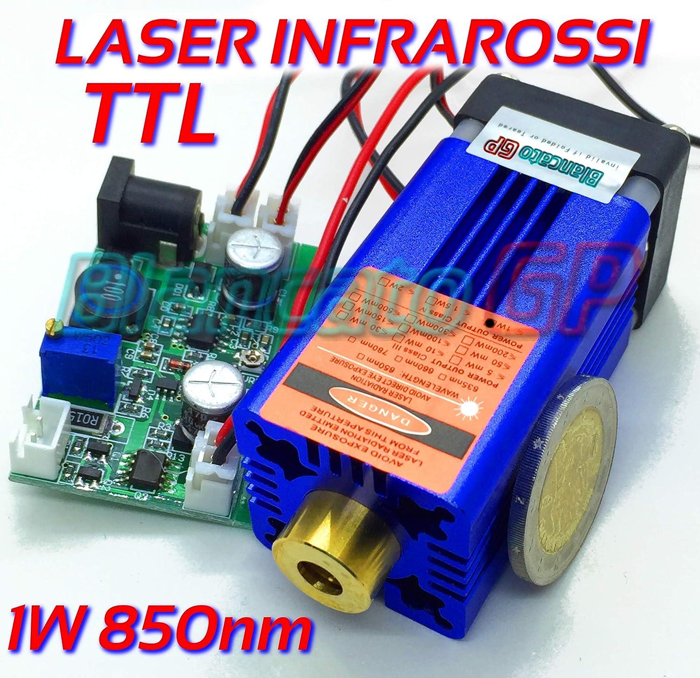 Module laser infrarouge 850nm 1W 12V DC Diode Infrared Laser Module Focusable BlancatoGP