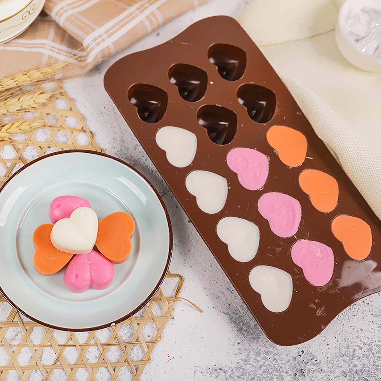 Molde para hacer bombones con forma de corazones de chocolate