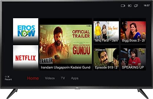 55 inches LED TV TCL 4K Ultra HD Smart LED TV 55P65US-2019 (Black) | Built-In Alexa