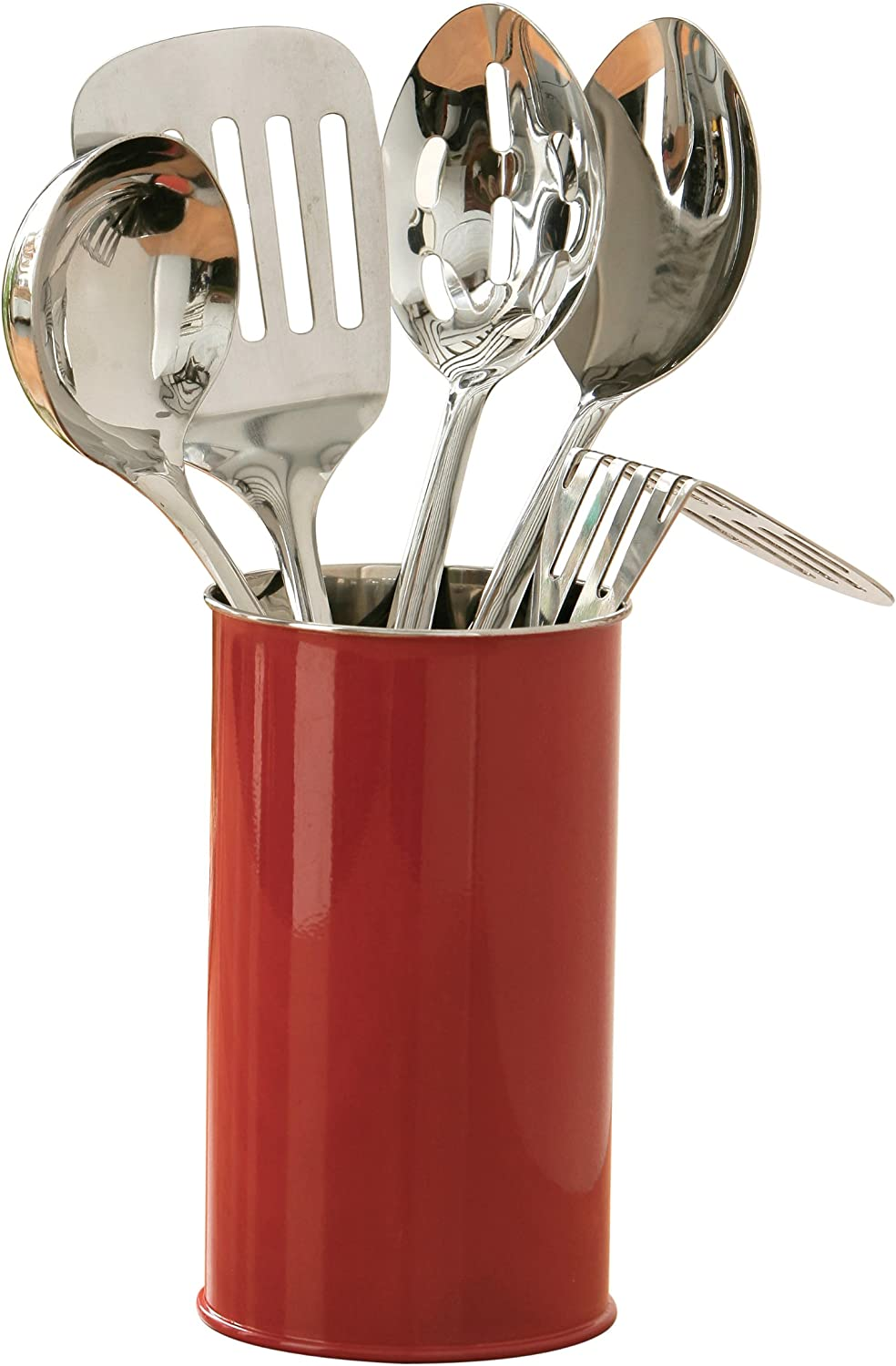 Red 5-Piece Premier Housewares Kitchen Tool Set with Canister