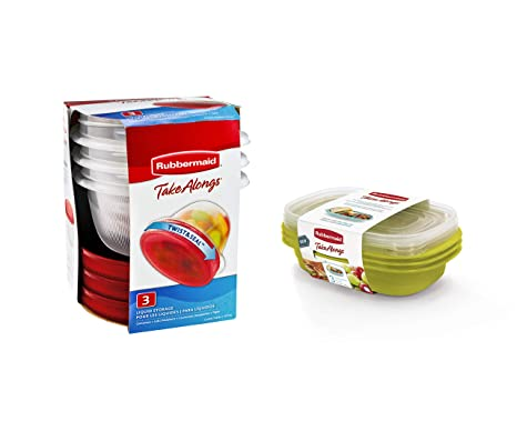 Amazon.com: Rubbermaid TakeAlongs Sandwich contenedores de ...