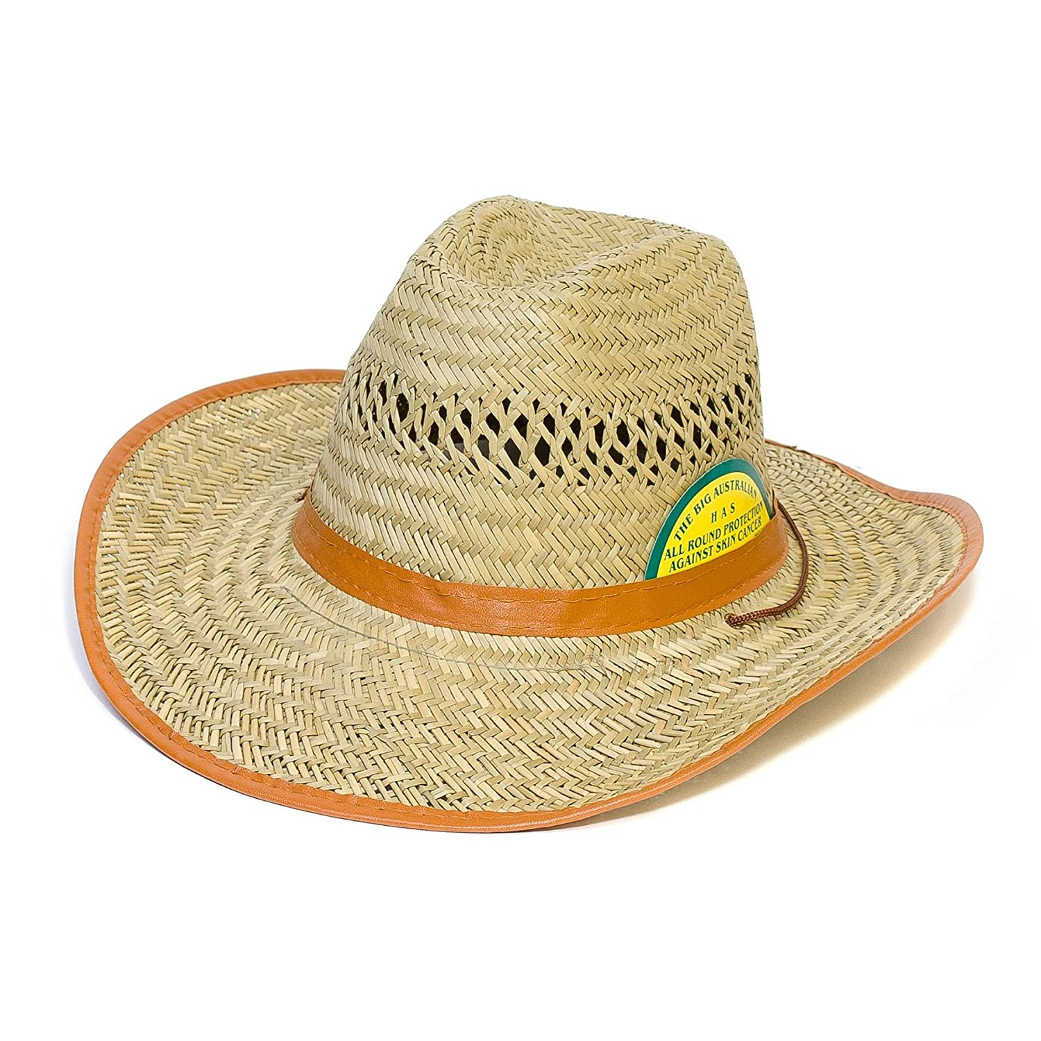 Cowboy Straw Hat (One Size, Natural) Hat To Socks