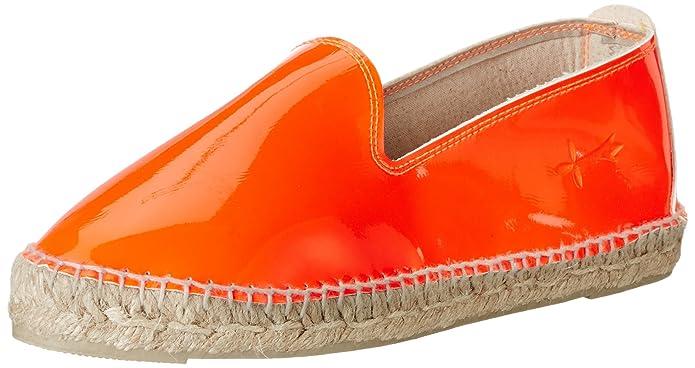 MANEBI Ibiza, Espadrillas Basse Donna, Arancione (Orange Patent), 37 EU