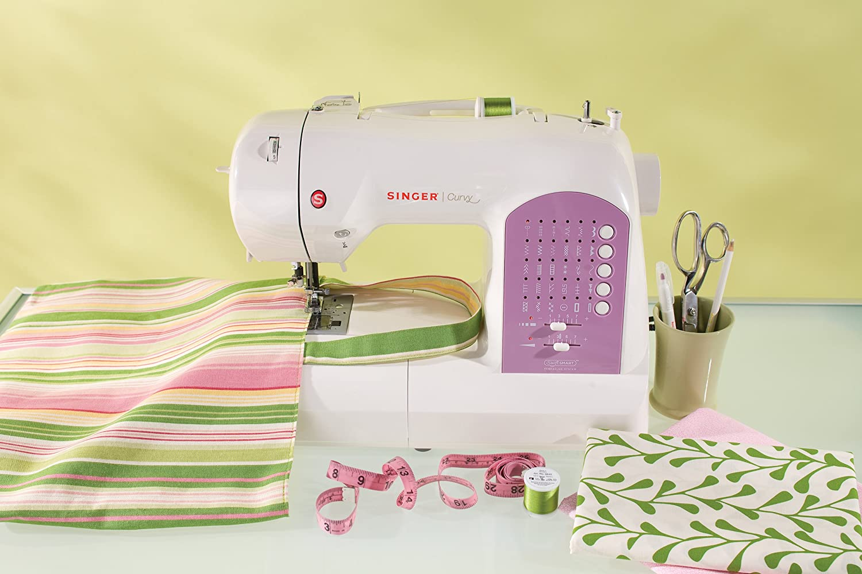 SINGER Curvy - Máquina de coser (Rosa, Blanco, Máquina de coser automática, Costura, 1 paso, Variable, Variable): Amazon.es: Hogar