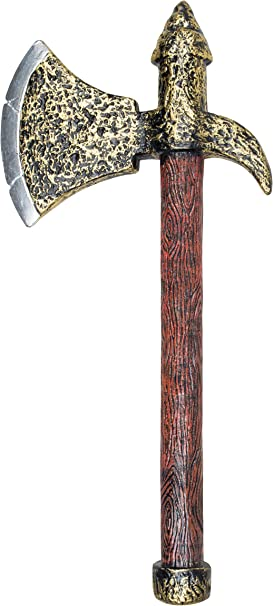 39cm Kight Axe Medieval Warrior Viking Fancy Dress Costume Accessory