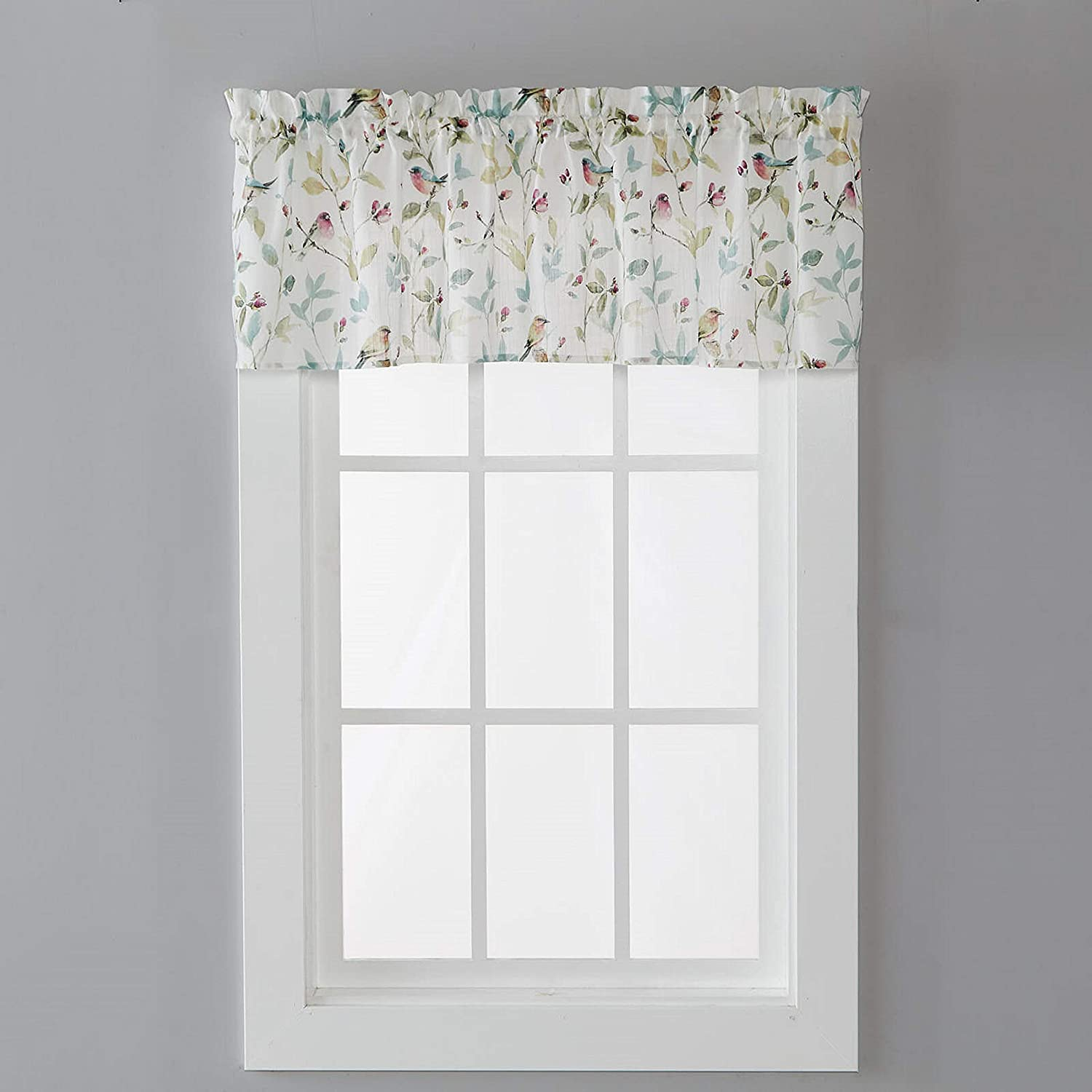 SKL Home by Saturday Knight Ltd. Aviary Valance, 54 Inches x 13 Inches, Pastels
