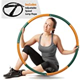 Ryno Tuff Hula Hoops for Adults - 2LB Weighted Hula Hoop with Extra Thick Foam Padding, Carry Bag, and Free Bonus Jump Rope -