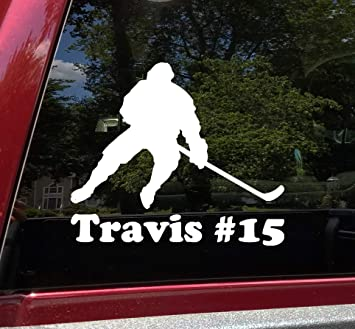 Car Decal Ice Goal Window Sticker Sport Team America Customized Hockey