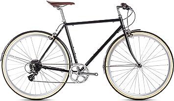 6 KU City Bike Delano Matte Black, 8 marchas, bicicleta, – Bicicleta de ciudad, Ciudad, color negro, tamaño 54 cm, tamaño de rueda 700.00 millimeters: Amazon.es: Deportes y aire libre