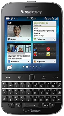 BlackBerry Classic Non-Camera, Black 16GB Smartphones at amazon