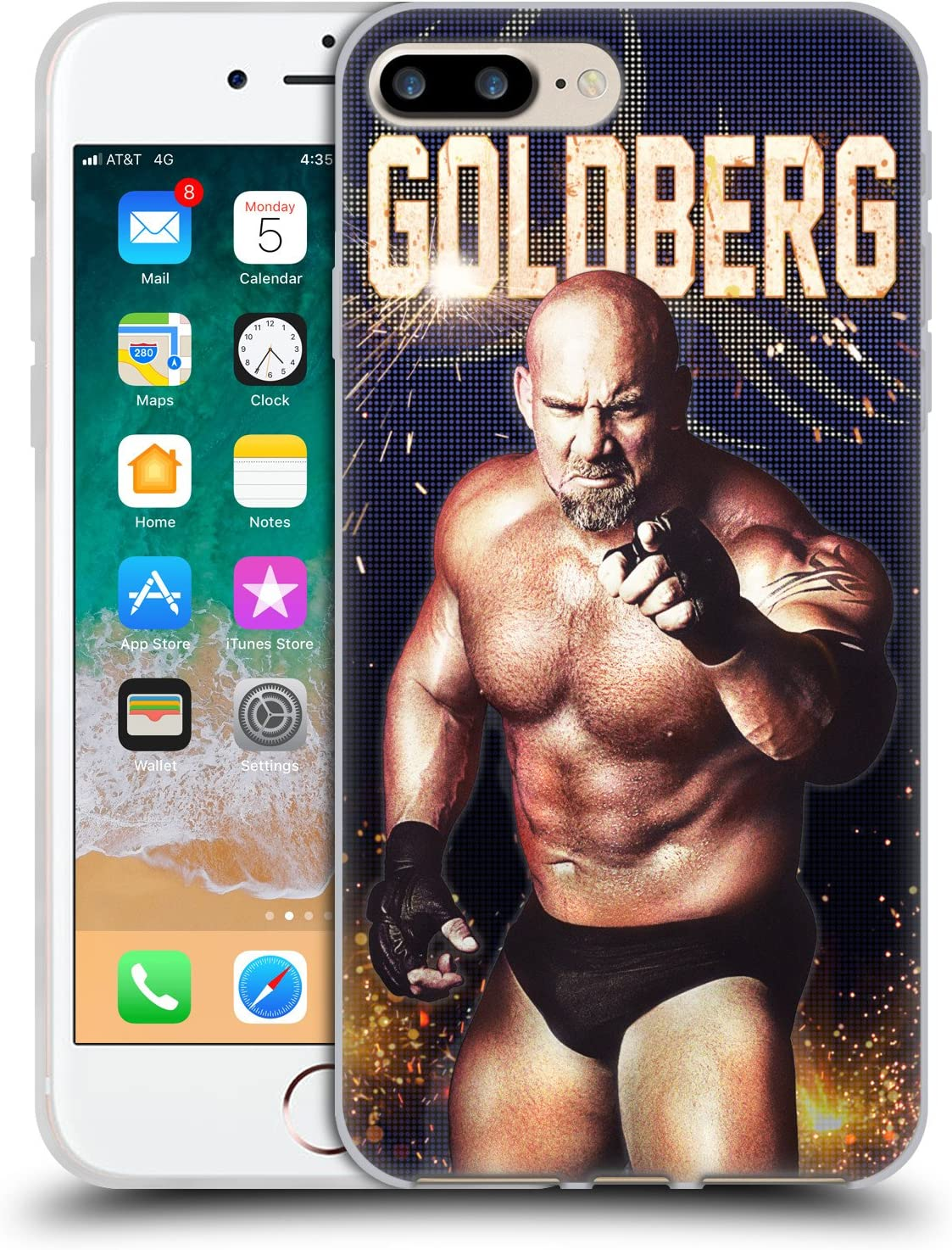 Head Case Designs Officially Licensed WWE Goldberg Superstars Soft Gel Case Compatible with Apple iPhone 7 Plus/iPhone 8 Plus