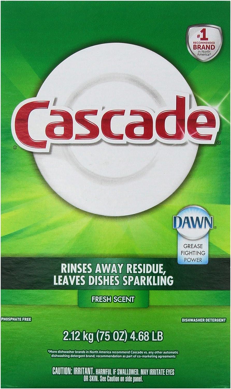 Cascade Powder Dishwasher Detergent, Fresh Scent 75 Oz