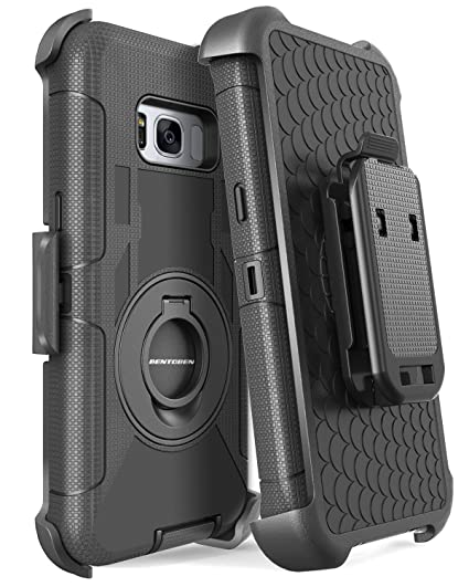 new concept dc88f 51d31 Galaxy S8 Case, Samsung Galaxy S8 Case, BENTOBEN Shockproof Heavy Duty  Kickstand Belt Clip Rugged Bumper Hybrid Holster Full Body Protective Case  for ...