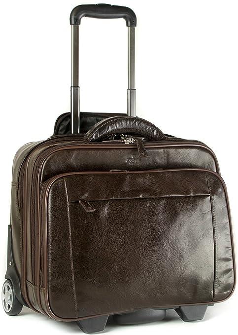 929924b638 S Babila - trolley bagaglio a mano - vera pelle - Marrone scuro ...