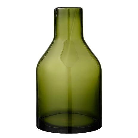 Amazon Moss Green Glass Vase Home Kitchen