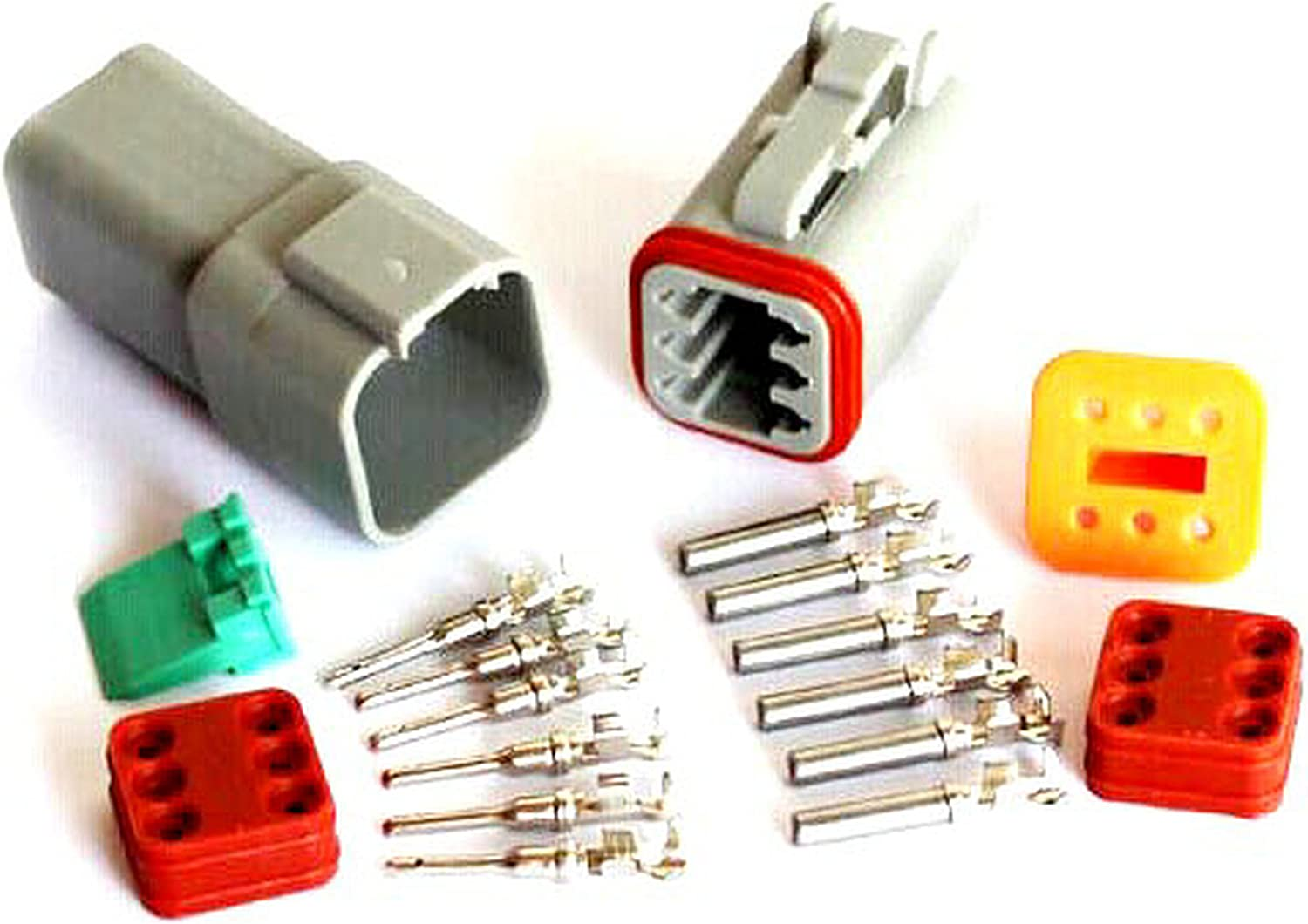 Amazon.com: 6 Pin Waterproof Electrical Wire Connector Plug Auto Dt06-6s  and Dt04-6p: AutomotiveAmazon.com