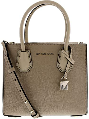 c46b0e879ac0 MICHAEL by Michael Kors Mercer Truffle Leather Accordion Messenger Bag one  size Truffle  Amazon.co.uk  Shoes   Bags