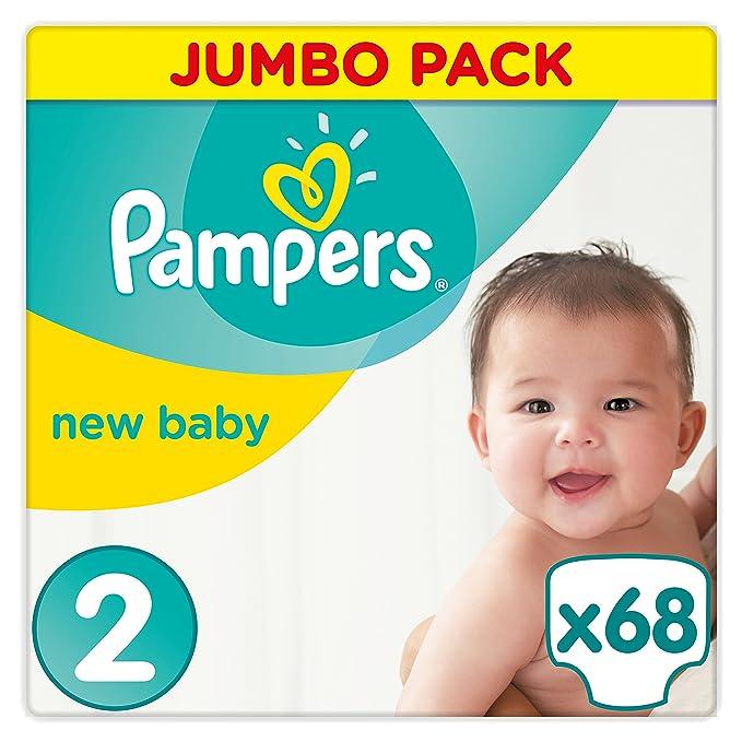 """66 opinioni per Pampers- Pannolini per neonati """"New Baby"""" Misura 2(3–6kg); la confezione"""