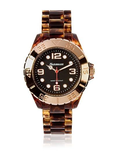 Neckmarine Reloj con movimiento japonés NKM34002 Marrón 40 mm: Amazon.es: Relojes
